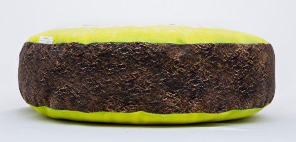 Okrągła poduszka dekoracyjna kiwi