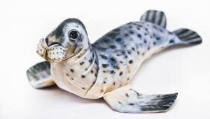 poduszka dekoracyjna w ksztacie foki szarej